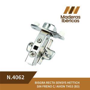 BISGRA RECTA SENSYS HETTICH SIN FRENO C/AVION TH53 (B3)