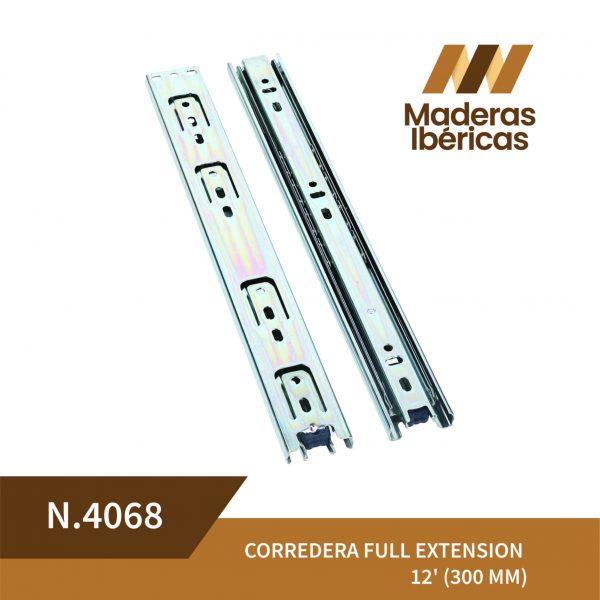 CORREDERA FULL EXTENSION 12' (300 MM)