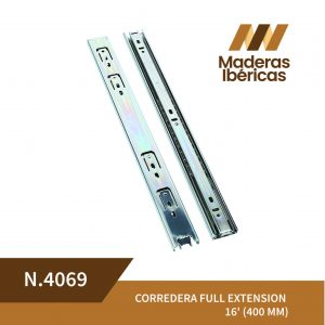 CORREDERA FULL EXTENSION 16' (400 MM)